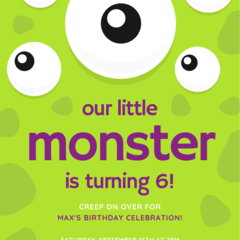BIRTHDAY INVITATION - CUSTOMISED PRINTABLE DOWNLOAD, AGE BIRTHDAY