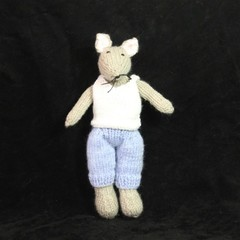 Soft Knitted Toy Mouse
