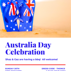 INVITATION - CUSTOMISED PRINTABLE DOWNLOAD, AUSTRALIA DAY PARTY!