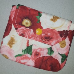Floral coin pouch