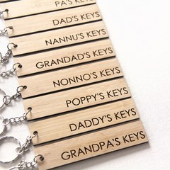 For Him Keyring Choose Your Own Father's Day Birthday