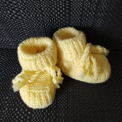 Lemon Booties (0-3 months)