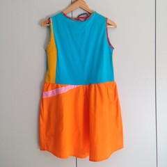 "Pollyanna Dress Zerowaste in ""Swim Team"" – One Off XS Size, Ready To Ship"