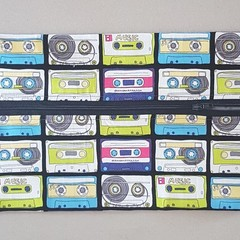 Retro cassette pencil case