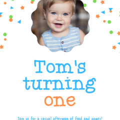 BIRTHDAY INVITATION - PRINTABLE DOWNLOAD, BOY BIRTHDAY (PHOTO)