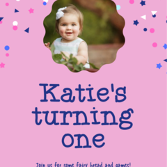 BIRTHDAY INVITATION - PRINTABLE DOWNLOAD, GIRL BIRTHDAY (PHOTO)