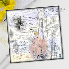 French Ephemera Collage Printable Two
