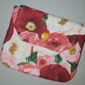 Pink floral coin pouch
