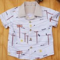 Boy's Button up Shirt - Possum Highway Dawn - Size 2