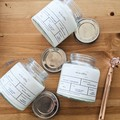 100% natural Soy wax candle with wood wick