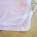 Cotton vintage lace baby keepsake blanket / throw