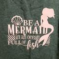Be a mermaid in a ocean full of fish Ladies singlet Kidpython gamer pink grey
