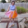 """Pollyanna Dress Zerowaste in """"Swim Team"""" – One Off XS Size, Ready To Ship"""