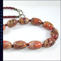 Polymer Clay Bead Necklace: Autumn Shades