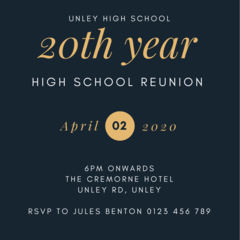 INVITATION - CUSTOMISED PRINTABLE DOWNLOAD, REUNION