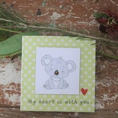 Madeit for Firefighters My Heart is with You Card Encouragement Card