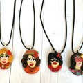 Polymer Clay Sculpted Emo Goth Punk Hippy Girl Pendant