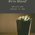 MOVING HOUSE ANNOUNCEMENT - CUSTOMISED PRINTABLE DOWNLOAD
