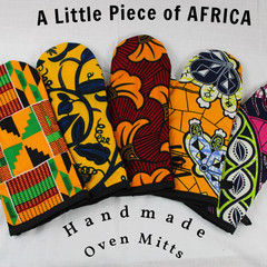 African Art Oven Mitts/Oven Gloves Gift