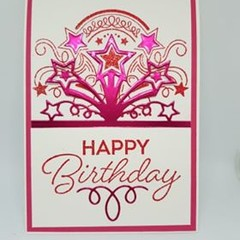 Starburst - Birthday Card (pink)