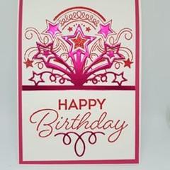 Happy Birthday Sunburst - pink