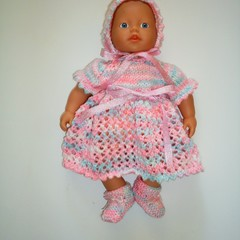 Knitted outfit in a 8ply yarn for Mini Baby Born or similar small dolls
