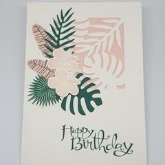 Hibiscus & Palm - Birthday Card