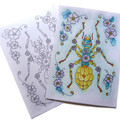 Cloisonne Style Insect Colouring Beetle, Ant and Spider as 3 instant downloads