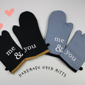 Me & You Oven Mitts Gift for Couples Oven Gloves Pot Holders