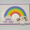 "Unicorn ""One of a Kind"" - Birthday Card"