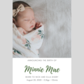 ANNOUNCEMENT - CUSTOMISED PRINTABLE DOWNLOAD - WELCOME BABY BOY/GIRL