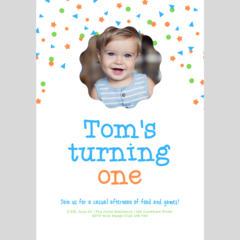 BIRTHDAY INVITATION - CUSTOMISED PRINTABLE DOWNLOAD, BOY BIRTHDAY (PHOTO)