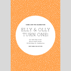 BIRTHDAY INVITATION - CUSTOMISED PRINTABLE DOWNLOAD, BIRTHDAY