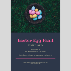 INVITATION - CUSTOMISED PRINTABLE DOWNLOAD, EASTER PARTY!