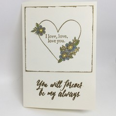 Valentine's Card - I love, love, love you
