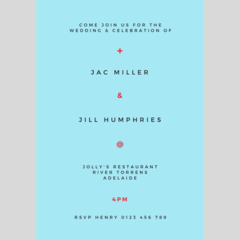 WEDDING INVITATION - CUSTOMISED PRINTABLE DOWNLOAD, MODERN