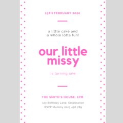 BIRTHDAY INVITATION - CUSTOMISED PRINTABLE DOWNLOAD, GIRL BIRTHDAY