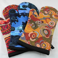Australian Aboriginal Art Oven Mitts/Oven Gloves Gift