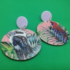 Aussie bird earrings