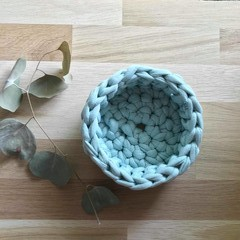 Crochet basket | essential oils | home decor | storage basket | LIGHT TEAL