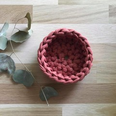 Crochet basket | essential oils | home decor | storage basket | TERRACOTTA