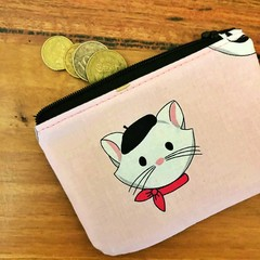 Coin purse -  French Cat