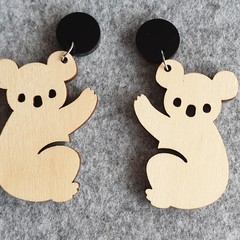 Madeit for the Firefighters: Koala Earrings