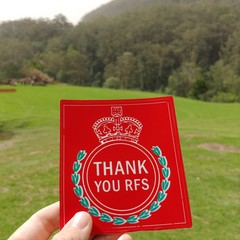 Thank You RFS bumper sticker (profits to the Rural Fire Service)