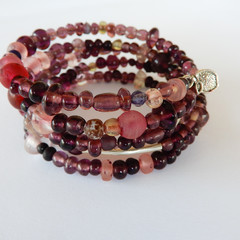Lovely in Pink Wrap Bracelet