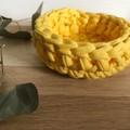 Crochet basket   essential oils   home decor   storage basket   BUTTERCUP YELLOW