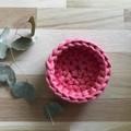 Crochet basket | essential oils | home decor | storage basket | RASPBERRY FIZZ