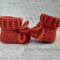Crochet Knit Newborn Baby Booties Shoes Socks Pregnancy Announcement Baby Shower