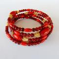 Wrap Bracelet in Red