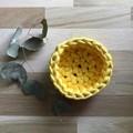 SMALL | crochet basket | essential oils | storage basket | BUTTERCUP YELLOW